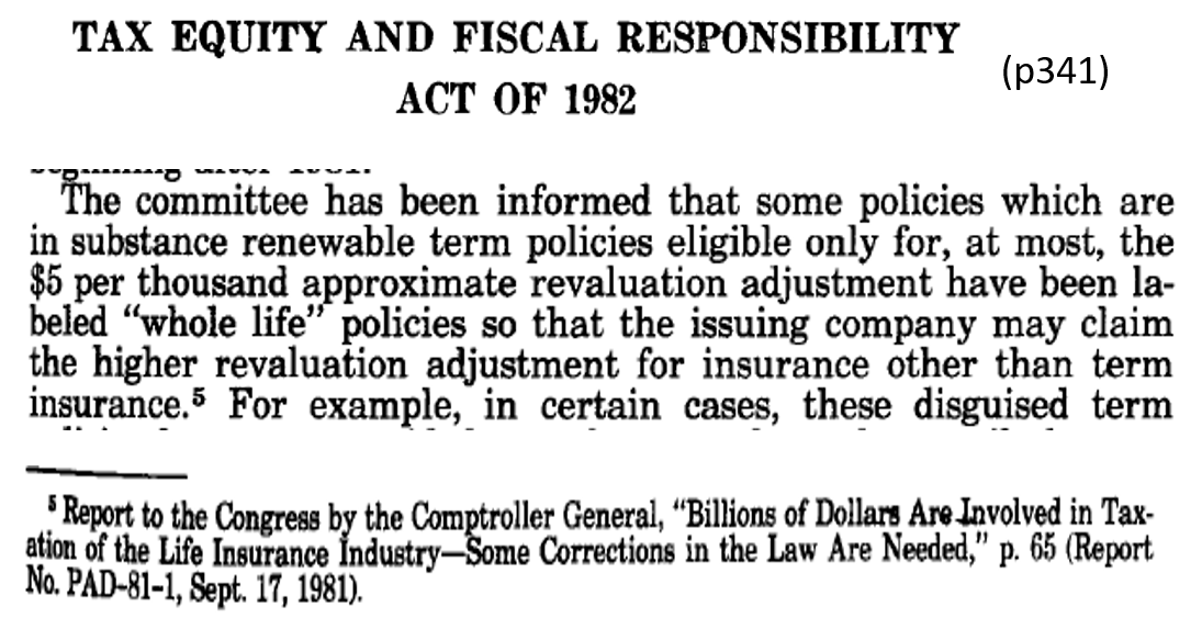 1982 GOV TEFRA Act of 1982 818 disguised term